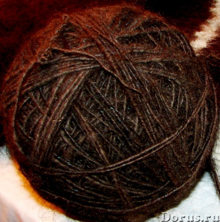 Пряжа «Черный Лохматуля» из пуха ньюфаунленда - Одежда и обувь - Пряжа «Черный Лохматуля» из пуха нь..., фото 9