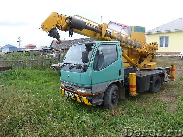 Аренда ямобура Mitsubishi Canter ( услуги БКМ) - Сельхоз и спецтехника - Услуги по бурению японскими..., фото 4